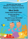 Under the Sea Hispanic Baby Girl Twins Snorkeling - Baby Shower Invitations