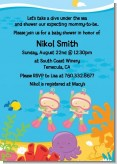 Under the Sea Baby Twin Girls Snorkeling - Baby Shower Invitations