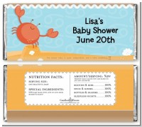 Crab | Cancer Horoscope - Personalized Baby Shower Candy Bar Wrappers