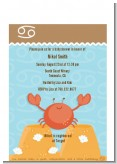 Crab | Cancer Horoscope - Baby Shower Petite Invitations