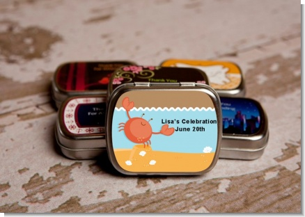 Crab | Cancer Horoscope - Personalized Baby Shower Mint Tins
