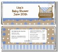 Crib Blue - Personalized Baby Shower Candy Bar Wrappers thumbnail