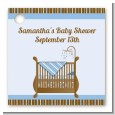 Crib Blue - Personalized Baby Shower Card Stock Favor Tags thumbnail
