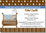 Crib Blue - Baby Shower Invitations