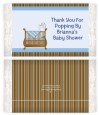 Crib Blue - Personalized Popcorn Wrapper Baby Shower Favors thumbnail