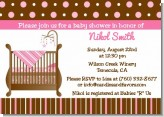Crib Pink - Baby Shower Invitations
