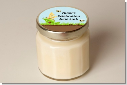 Critters Bugs & Insects - Baby Shower Personalized Candle Jar