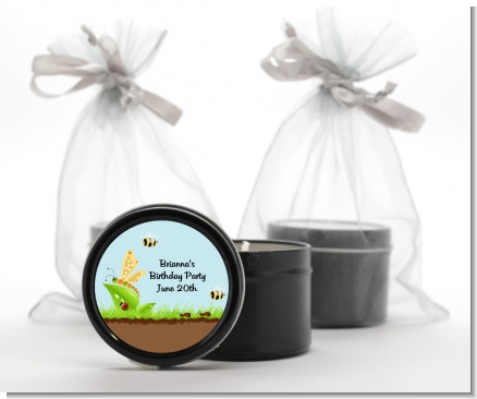 Critters Bugs & Insects - Baby Shower Black Candle Tin Favors