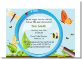 Critters Bugs & Insects - Baby Shower Petite Invitations