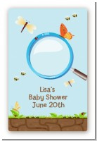 Critters Bugs & Insects - Custom Large Rectangle Baby Shower Sticker/Labels