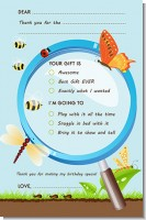 Critters Bugs & Insects - Birthday Party Fill In Thank You Cards
