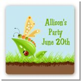 Critters Bugs & Insects - Square Personalized Birthday Party Sticker Labels