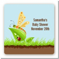 Critters Bugs & Insects - Square Personalized Baby Shower Sticker Labels