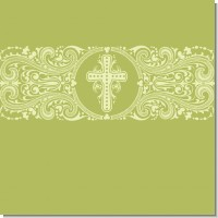 Cross Sage Green Baptism Theme