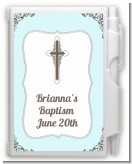 Cross Blue & Brown - Baptism / Christening Personalized Notebook Favor