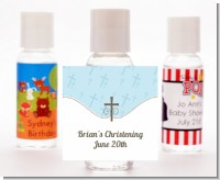 Cross Blue - Personalized Baptism / Christening Hand Sanitizers Favors
