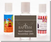 Cross Brown Necklace - Personalized Baptism / Christening Hand Sanitizers Favors