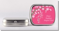 Cross Cherry Blossom - Personalized Baptism / Christening Mint Tins