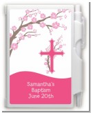 Cross Cherry Blossom - Baptism / Christening Personalized Notebook Favor