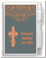 Cross Grey - Baptism / Christening Personalized Notebook Favor