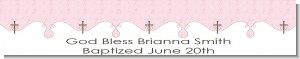 Cross Pink - Personalized Baptism / Christening Banners
