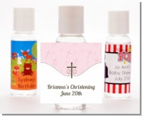Cross Pink - Personalized Baptism / Christening Hand Sanitizers Favors