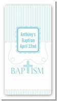 Cross Blue Necklace - Custom Rectangle Baptism / Christening Sticker/Labels