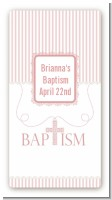 Cross Pink Necklace - Custom Rectangle Baptism / Christening Sticker/Labels