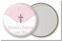 Cross Pink - Personalized Baptism / Christening Pocket Mirror Favors