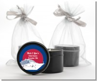 Cruise Ship - Bridal Shower Black Candle Tin Favors