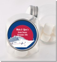 Cruise Ship - Personalized Bridal Shower Candy Jar