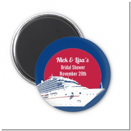 Cruise Ship - Personalized Bridal Shower Magnet Favors