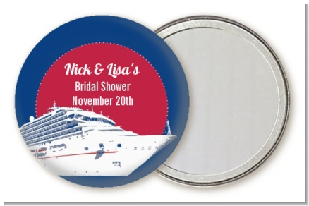 Cruise Ship - Personalized Bridal Shower Pocket Mirror Favors