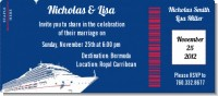 Cruise Ship - Bridal Shower Destination Boarding Pass Invitations