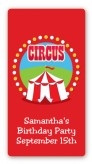 Circus Tent - Custom Rectangle Birthday Party Sticker/Labels