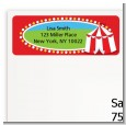 Circus Tent - Birthday Party Return Address Labels thumbnail