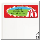 Circus Tent - Birthday Party Return Address Labels