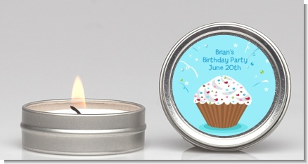 Cupcake Boy - Birthday Party Candle Favors