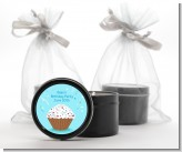 Cupcake Boy - Birthday Party Black Candle Tin Favors