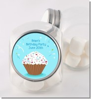 Cupcake Boy - Personalized Birthday Party Candy Jar