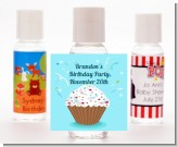 Cupcake Boy - Personalized Birthday Party Hand Sanitizers Favors