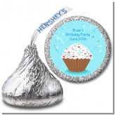Cupcake Boy - Hershey Kiss Birthday Party Sticker Labels