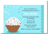 Cupcake Boy - Birthday Party Petite Invitations