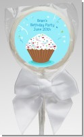 Cupcake Boy - Personalized Birthday Party Lollipop Favors