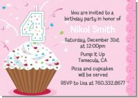 Cupcake Birthday Invitation for Girl