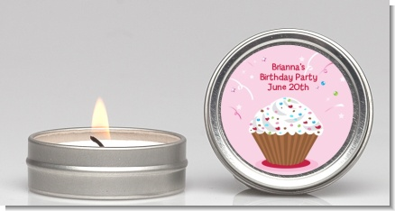 Cupcake Girl - Birthday Party Candle Favors