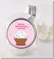 Cupcake Girl - Personalized Birthday Party Candy Jar