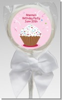 Cupcake Girl - Personalized Birthday Party Lollipop Favors