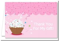 Cupcake Girl - Birthday Party Thank You Cards