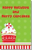 Christmas Cupcake - Personalized Christmas Wall Art